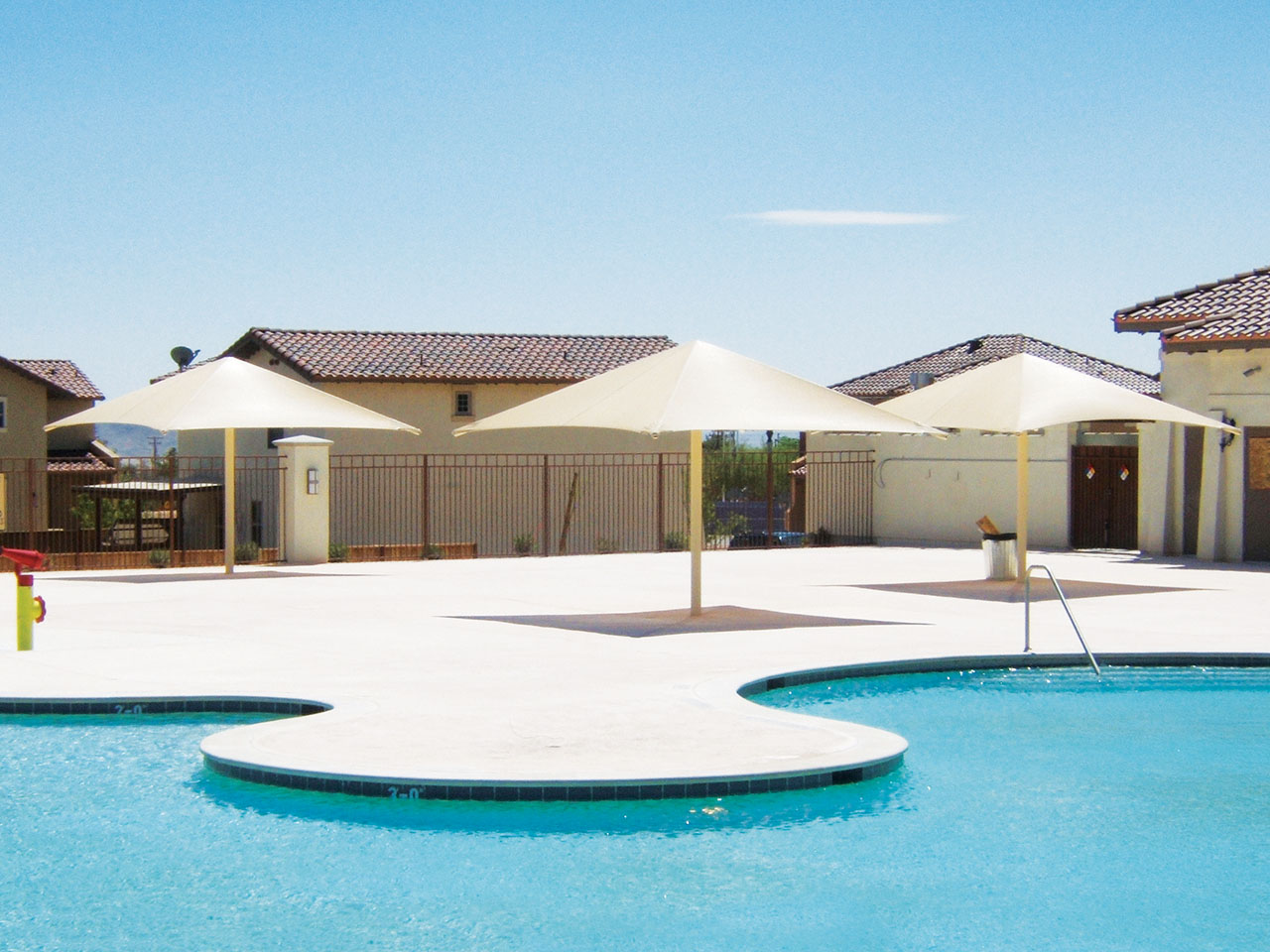 Community Pool Shade Structures - Fort Irwin Community Pool