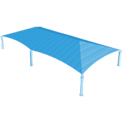 Extra Large Hip Shade Structure