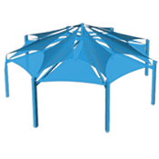 Large Octagon Shade Structure