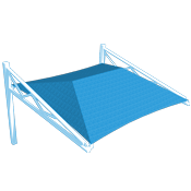 Single Tri-Truss Canti Shade Structure