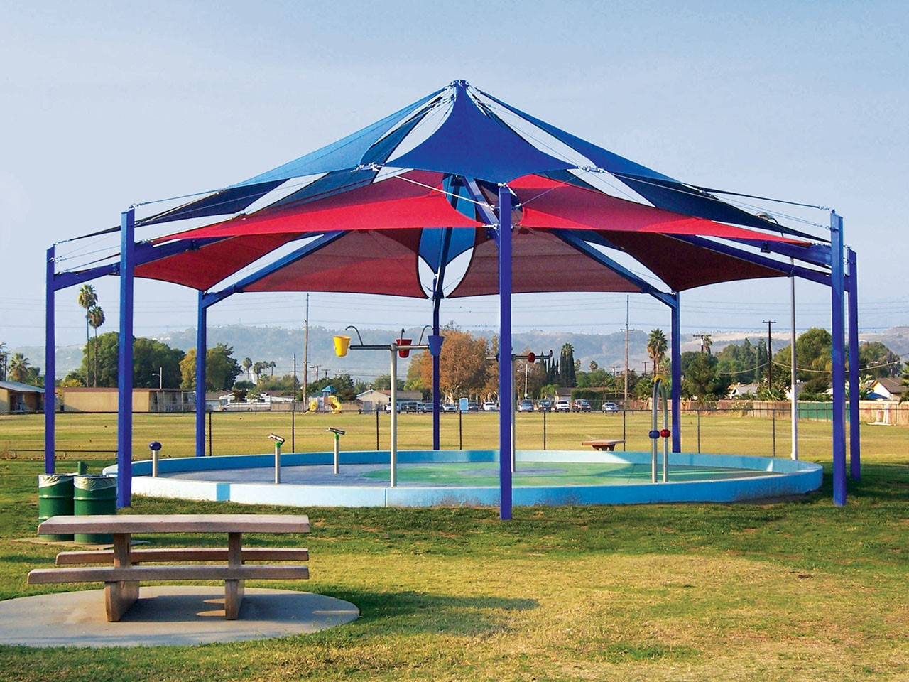 Splash Pad Shade - Allen J Martin Park Splash Pad