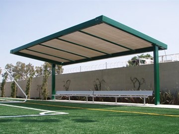 Shade for Soccer Bench - Delano Park