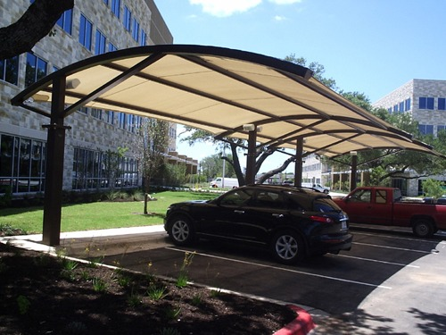 Corporate Parking Lot Shade - Research Park Place