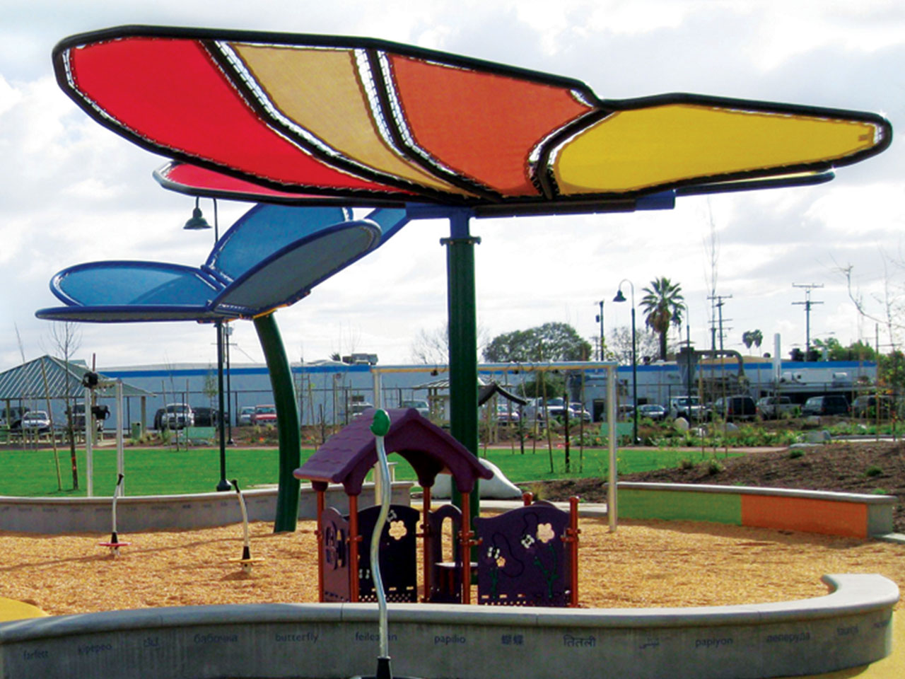 Custom Shade for Parks - Gibson Mariposa Park