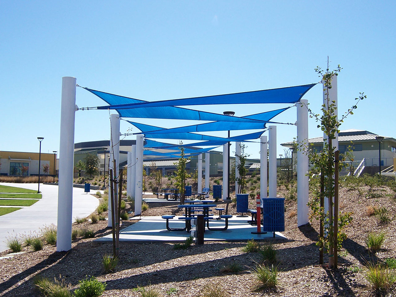 Projects san ysidro high school usa shade for Shade structures