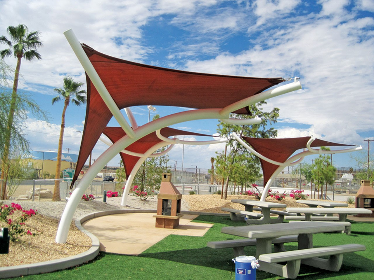 Wounded Warrior Park Custom Shade