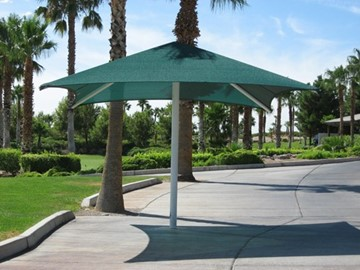 Golf Club Shade Structures - Rhodes Ranch Golf Club