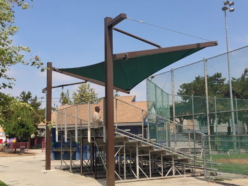 Shade for Bleachers - Martin Luther King Jr Park