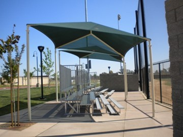 Bleacher Shade Canopies - Figarden Loop Park