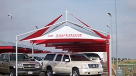 Shade for Car Dealerships - Greg Lair Buick-GMC