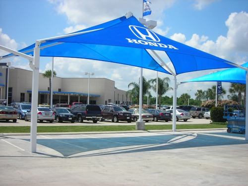 Carl Dealership Shade Structures - John Eagle Honda