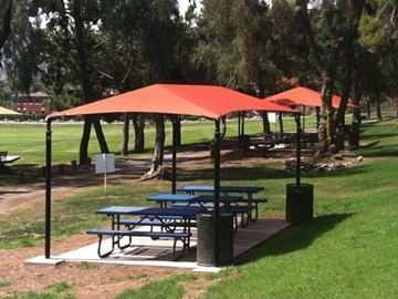 Picnic Table Shade - Admiral Baker Park