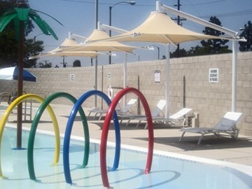 Unique Shade for Pools - Drayson Center at Loma Linda University