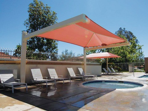 Commercial Shade Structures for Pools - Laurelwood HOA Pool