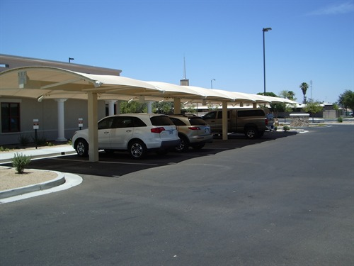 Parking Lot Shade Structures - Women's Health Specialists of Yuma