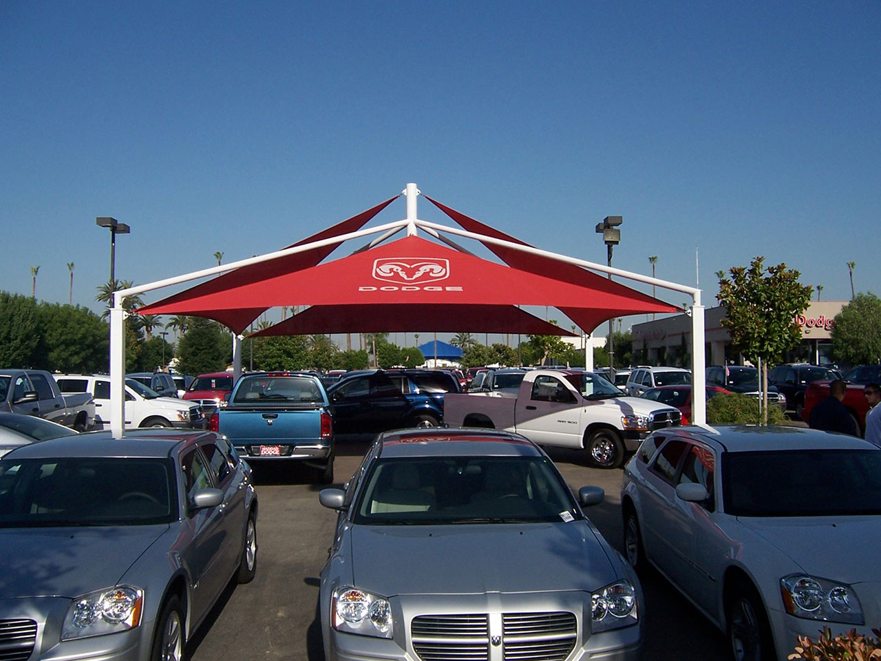 Car Dealership Shade - Haddad Dodge