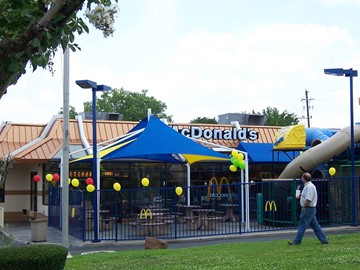 Fast Food Shade Structures - McDonalds North Collins