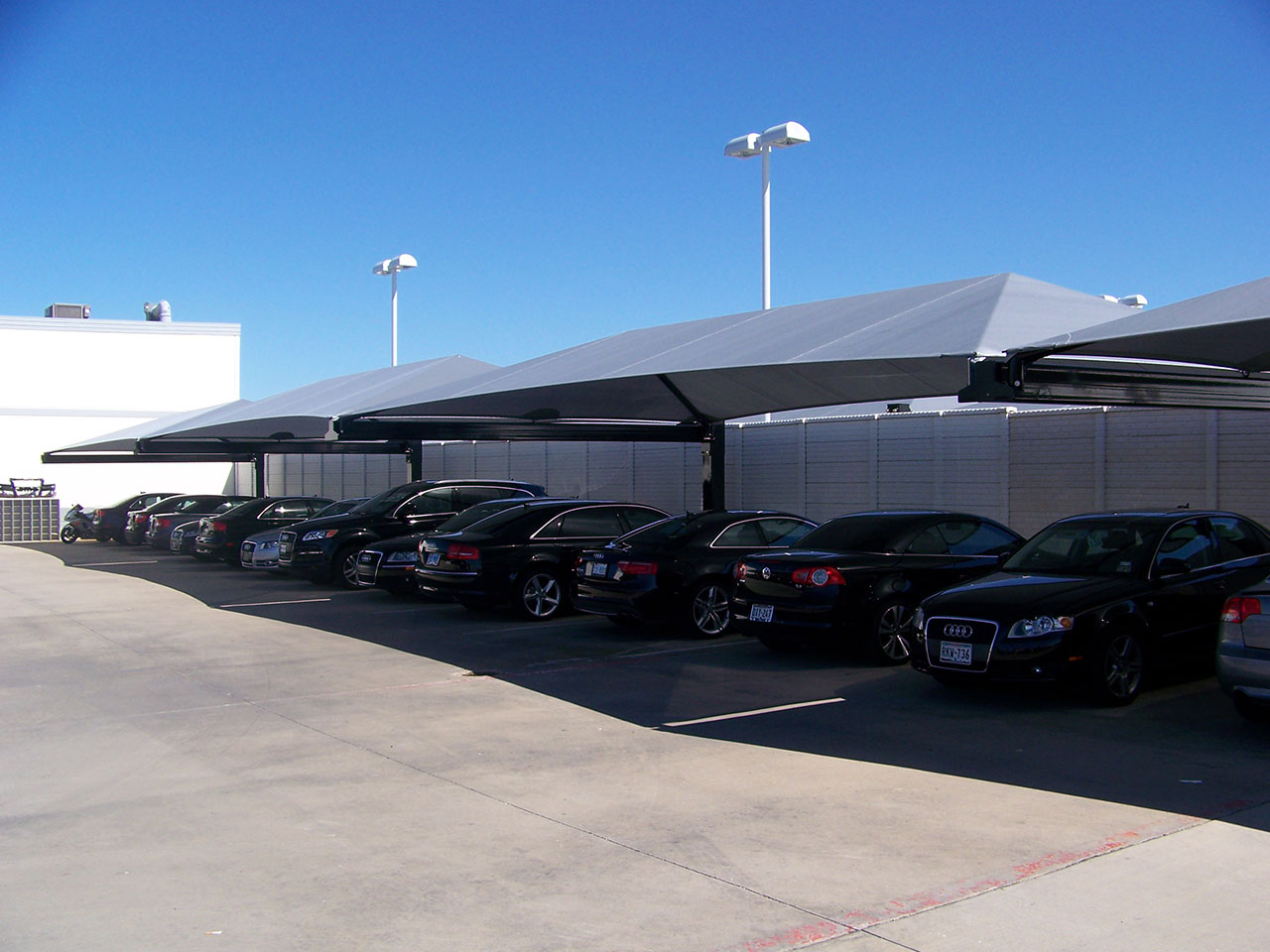 Parking Lot Shade Solutions - DFW Audi