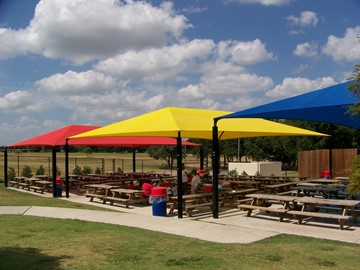 Colored Shade Structures