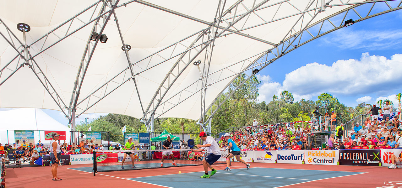 Teams compete in the US Open Pickleball Championships Open Air Arena