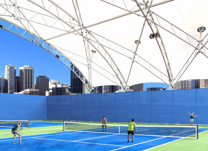 Tennis Court Shade Structures Usa Shade
