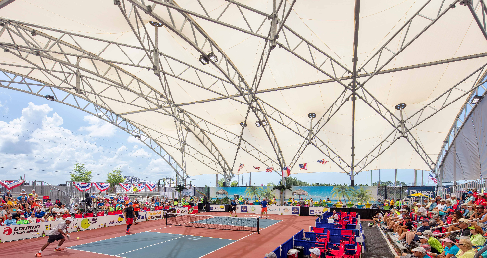 US Pickleball Championship Shade Structure