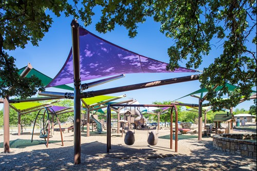 Adventure World playground shade structures