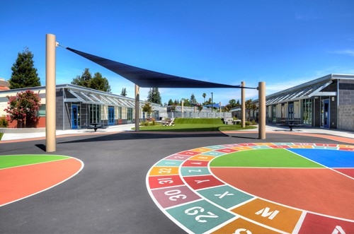 Campbell School of Innovation playground shade