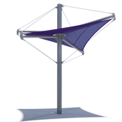 Single Post Shade Structure - Aurora