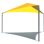 Triangle Commercial Shade Structure