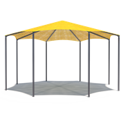 Octagon Commercial Shade Structure
