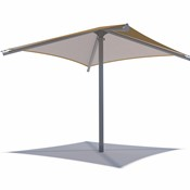 Single Post Shade Structure