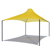 Hip Cone Style Shade Structure