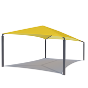 Slant Hip Shade Structure