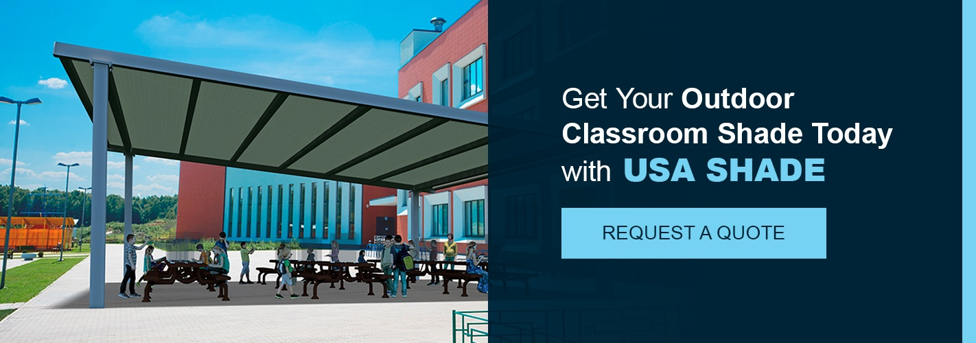 Get outdoor shade for classrooms